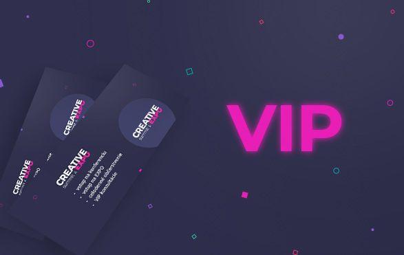 VIP vstupenka CREATIVE summit & EXPO 2021 + ONLINE vstupenka 2020 ZDARMA